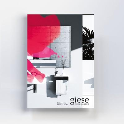 Grafikdesign Katalog Layout Titelseite Blickpunkt Giese Manufaktur von freiraum id