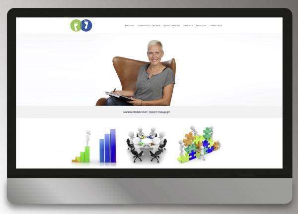 Schrittweise Beratung Mareike Hildebrandt - Webdesign Andrea Zinecker