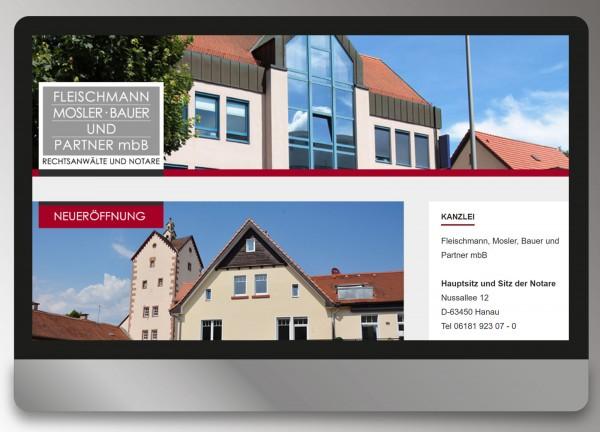 Fleischmann Mosler Bauer und Partner - Webdesign Andrea Zinecker